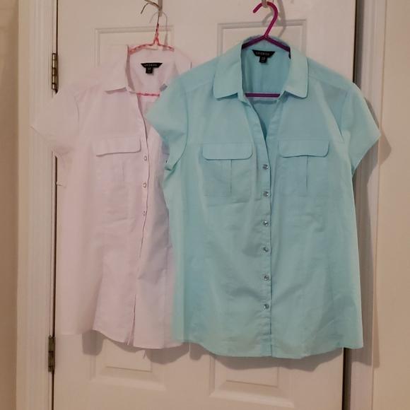 Bundle of 2 short sleeve blouses